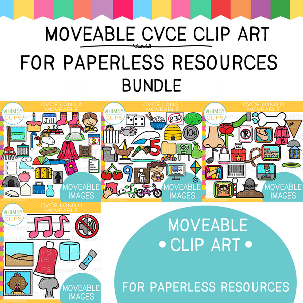 CVCe Moveable Clip Art Growing Bundle