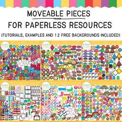 Moveable Pieces for Paperless Resources Bundle