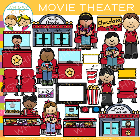 Kids Movie Theater Clip Art