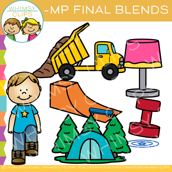 Ending Blends Clip Art - MP Words