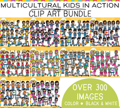 Multicultural Kids Clip Art