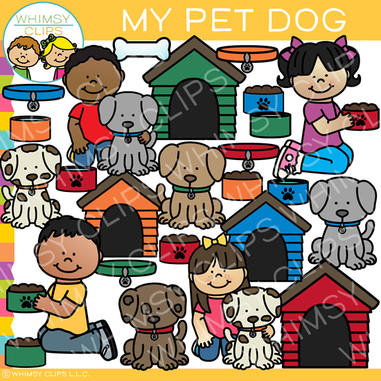 My Cute Pet Dog Clip Art
