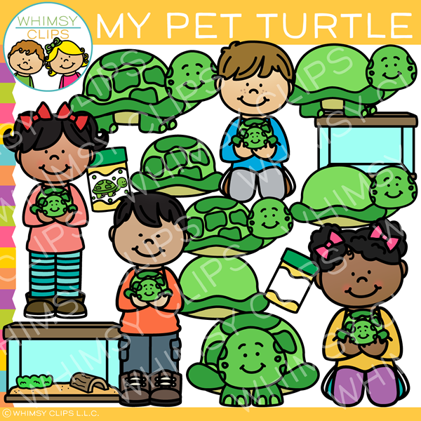 My Pet Turtle Clip Art