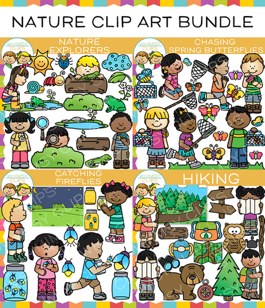 Spring and Summer Nature Clip Art Bundle