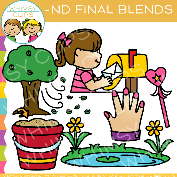 Ending Blends - ND Words Clip Art