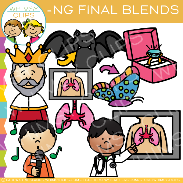 Ending Blends - NG Words Clip Art