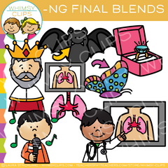ND Ending Blends Clip Art