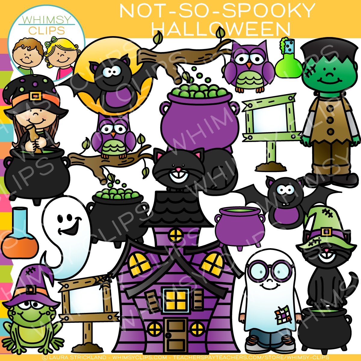 not so spooky halloween clip art images illustrations whimsy clips rh whimsyclips com spooky halloween eyes clip art Halloween Monster Clip Art