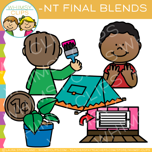Ending Blends - NT Words Clip Art