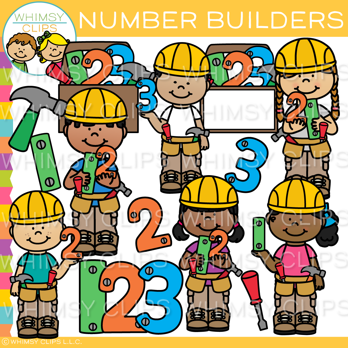 Number Builders Clip Art