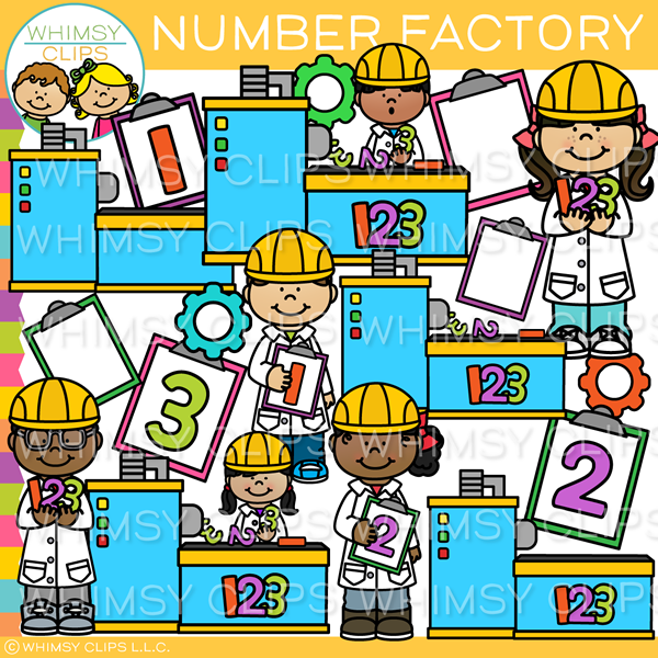 Math Number Factory Clip Art
