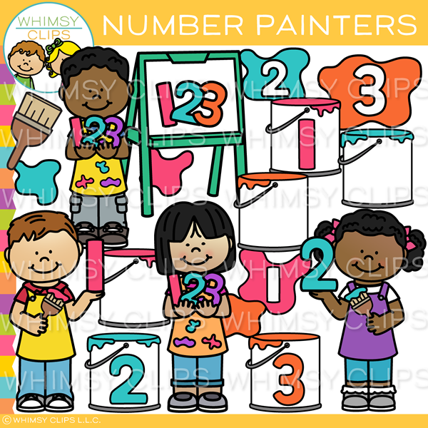 Number Painters Clip Art