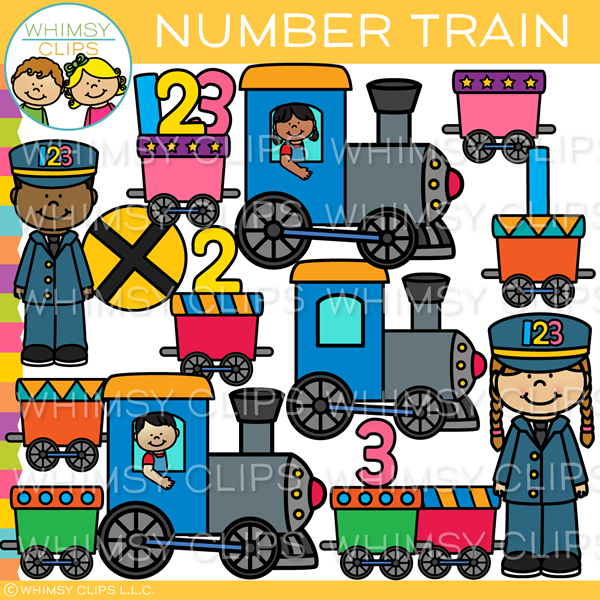 Number Train Clip Art