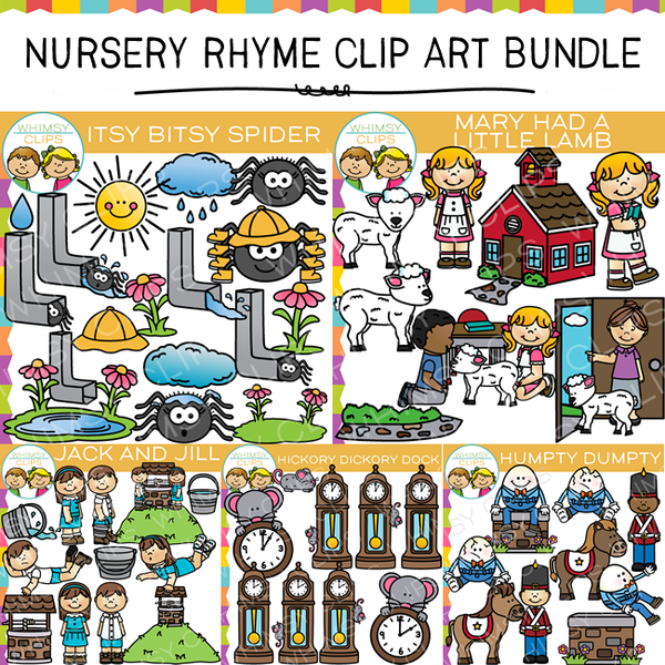 Nursery Rhyme Clip Art Bundle