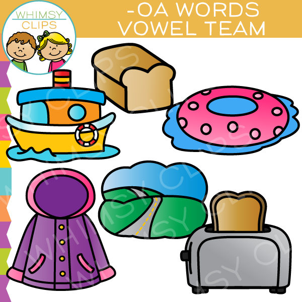 Vowel Teams Clip Art -OA Words
