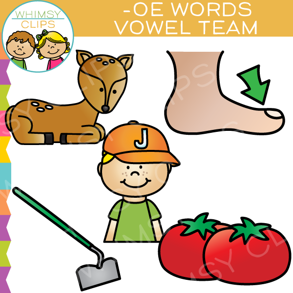 OE Words Vowel Team Clip Art
