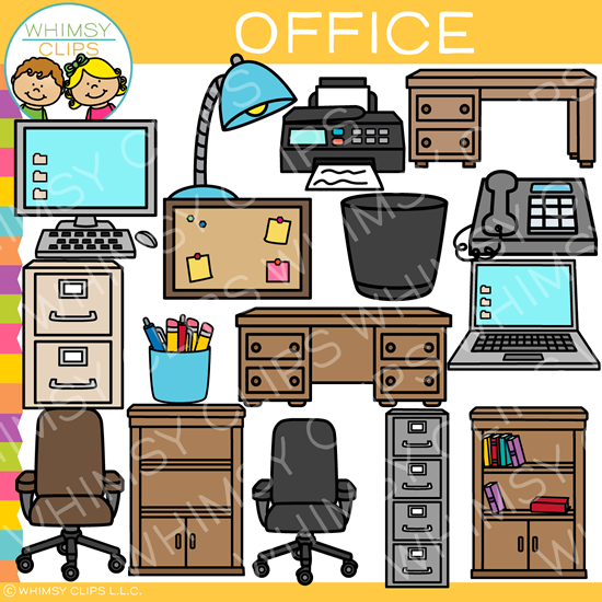 Pieces of an Office Clip Art