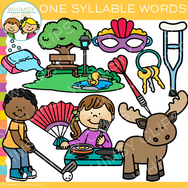 One Syllable Words Clip Art
