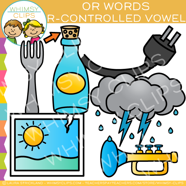 R-Controlled Clip Art - OR words