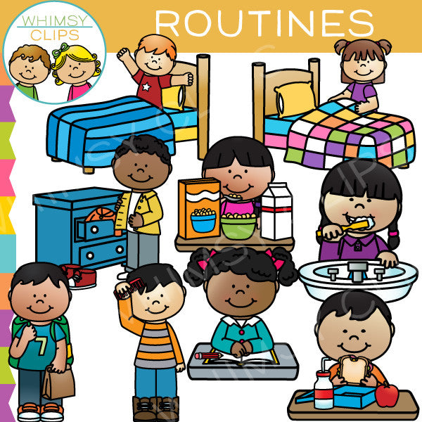 kids routines clip art   images   illustrations whimsy playhomeworkfor4yearsold play homeworlds pyramid online