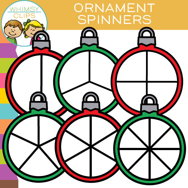 Ornament Spinners Clip Art
