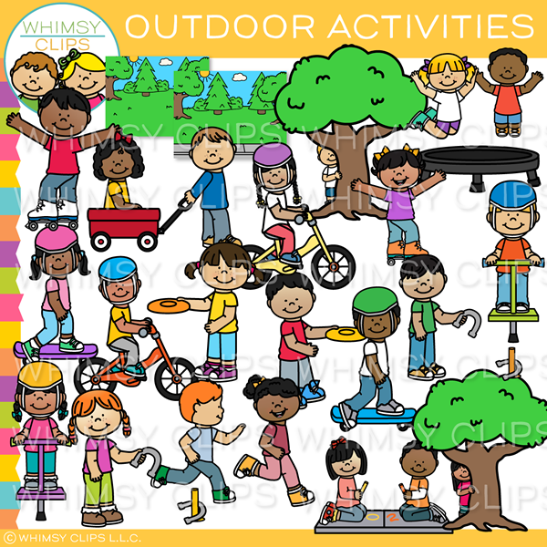 Kids Outdoor Activities Clip Art