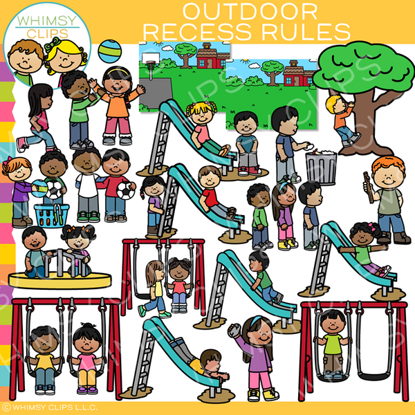 Outdoor Recess Rules Clip Art