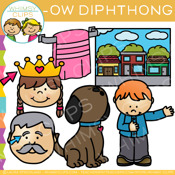 OW Words Diphthong Clip Art