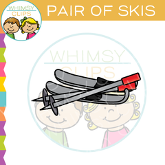 Pair of Skis Clip Art