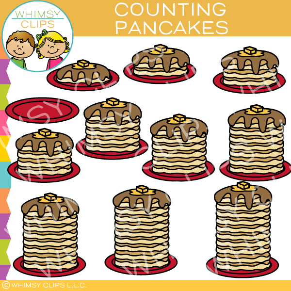 Pancakes Counting Clip Art