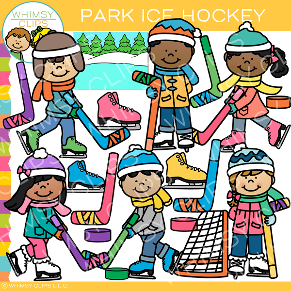 Park Ice Hockey Clip Art