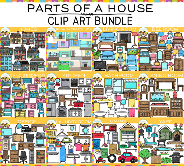Parts of a House Clip Art BUNDLE