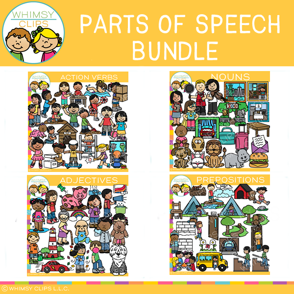 Parts of Speech Clip Art BUNDLE