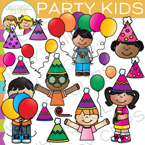 Party kids clip art images illustrations whimsy clips party kids clip art voltagebd Gallery