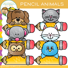 Pencil Animals Clip Art