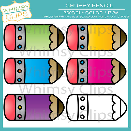 FREE Chubby Pencil Clip Art