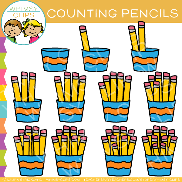 Counting Pencils Clip Art