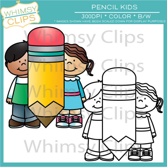 Pencil Kids Clip Art