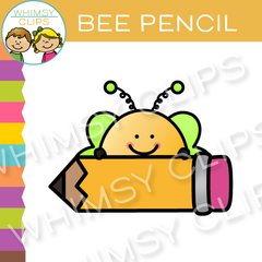 Free Bee Pencil Clip Art