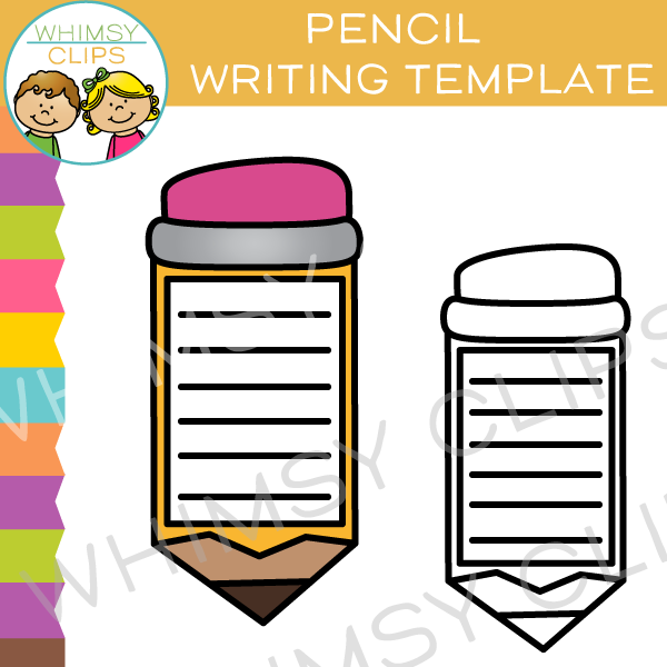 Pencil Writing Template Clip Art