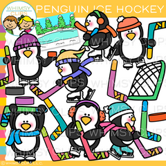 Penguins Ice Hockey Clip Art