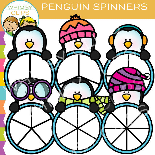 Penguin Spinners Clip Art