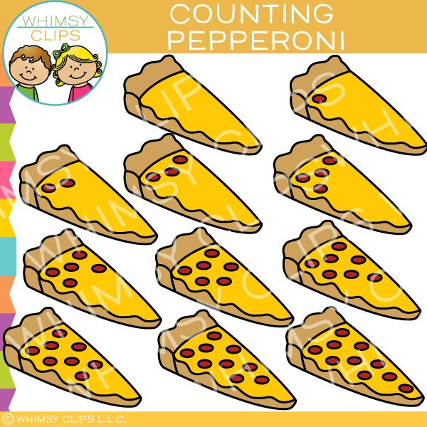 Counting Pepperoni on Pizza Clip Art