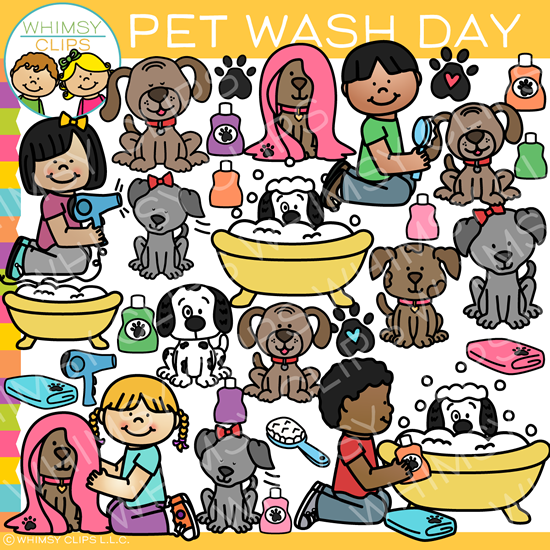 Pet Wash Clip Art