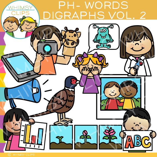 Beginning Ph-Words  Clip Art - Digraphs Volume Two