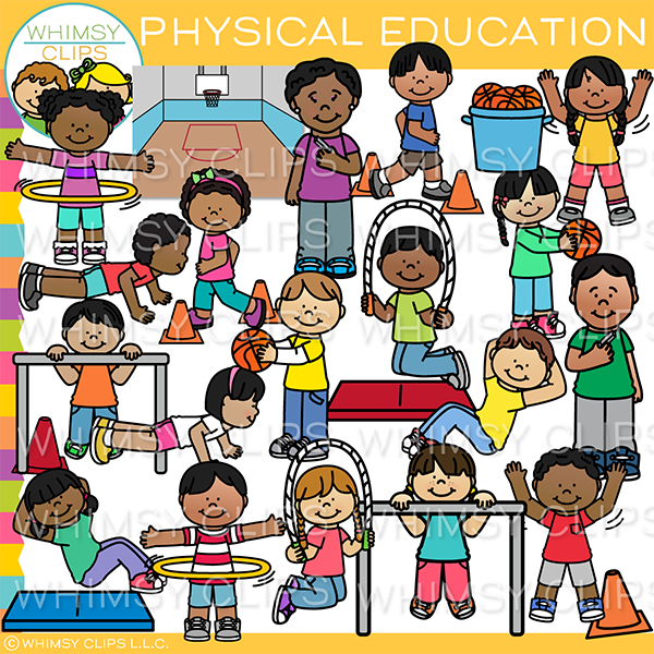 Physical Education Kids Clip Art