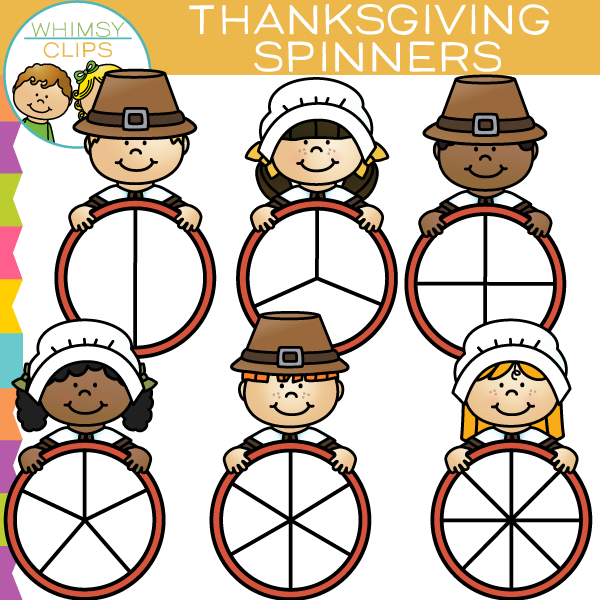 Thanksgiving Spinners Clip Art