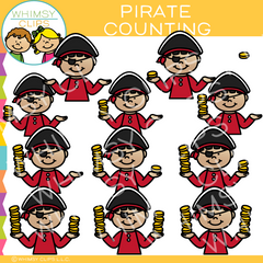 Pirate Counting Clip Art