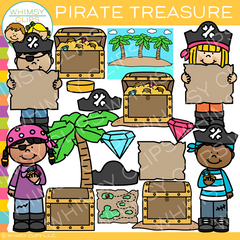Kids Pirate Treasure Clip Art