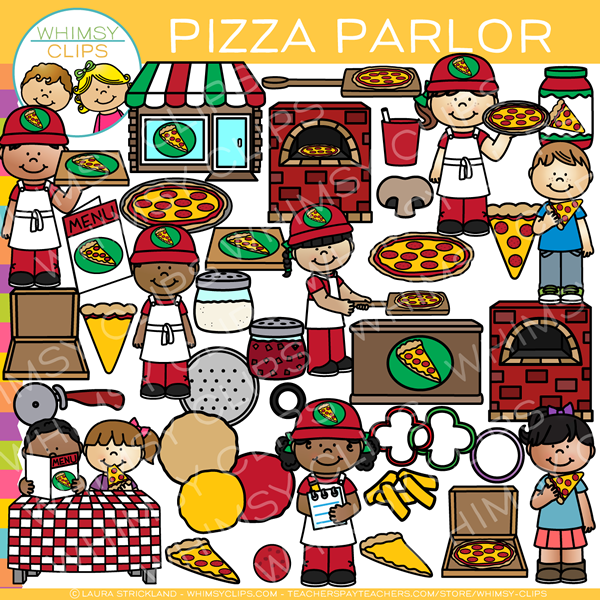 Fun Pizza Parlor Clip Art
